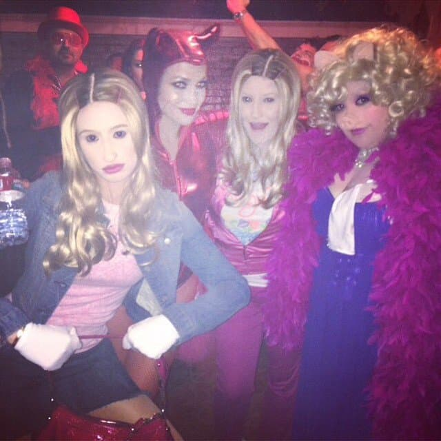 Iggy Azalea's Instagram photo from a Halloween party with a devil Jennifer Lopez and friends