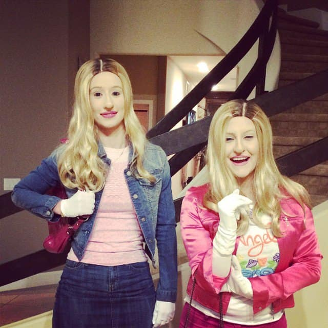 Iggy Azalea's Instagram picture of her White Chicks costume for Halloween