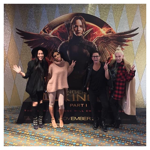 Kim Kardashian's Instagram picture from the private screening of The Hunger Games: Mockingjay – Part 1 she watched with friends while visiting Australia -- Posted on November 20, 2014