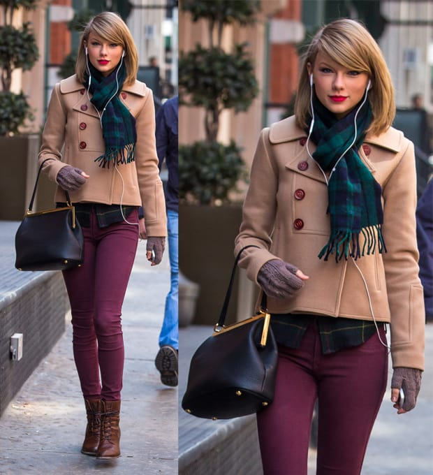 Taylor Swift seen after shopping at the 'Steven Alan' store in Tribeca in New York on March 27, 2014