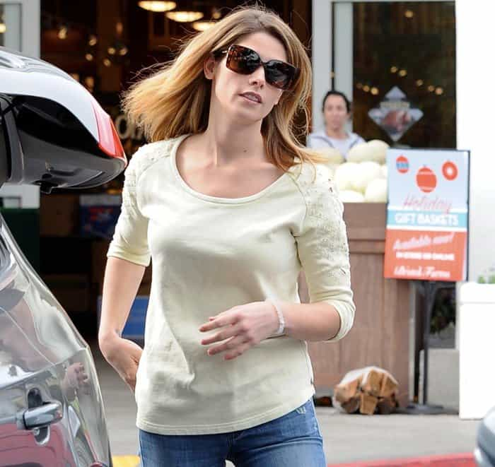 Ashley Greene grocery shopping at Bristol Farms in Beverly Hills