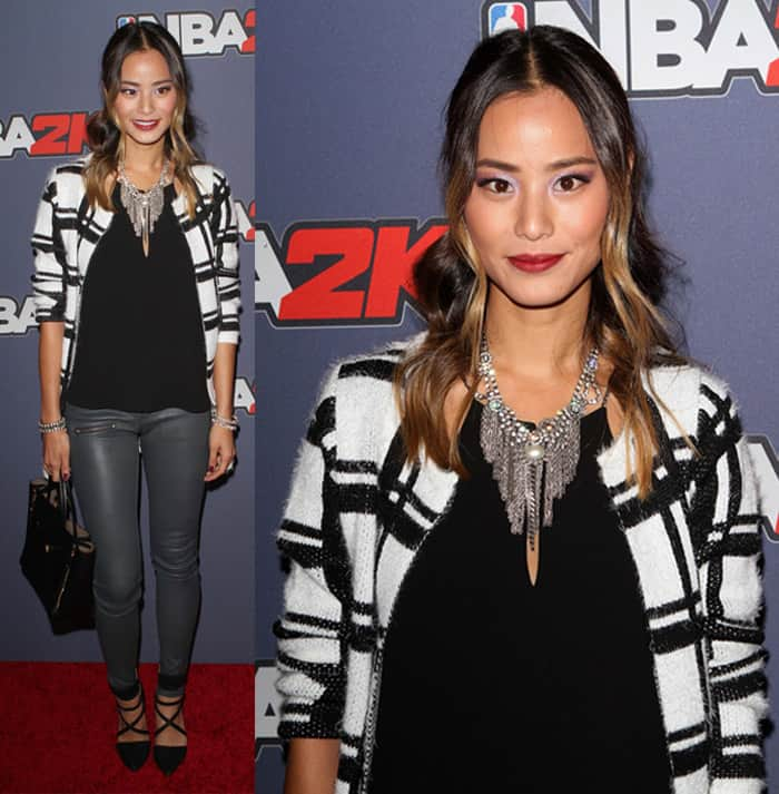 Jamie Chung at the NBA 2K15 Launch Celebration held at the Standard in New York on September 23, 2014