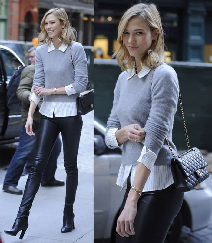 Karlie Kloss out and about in New York City on December 11, 2014