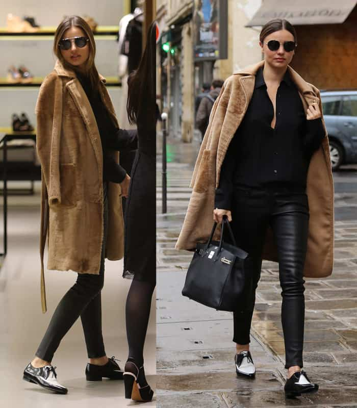 Miranda Kerr out and about in Paris. She had lunch at the Bristol hotel and did some shopping at Sonia Rykiel store in St. Germain des Pres in Paris on February 27, 2014