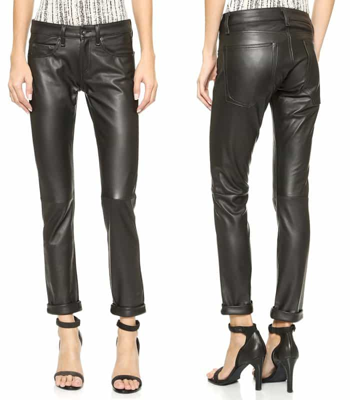 Rag & Bone JEAN The Leather Dre Slim BF Pants