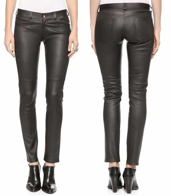 The West is Dead Skinny Stretch Leather Pants