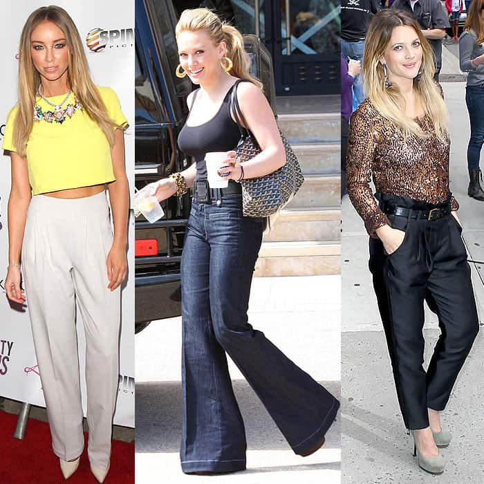 Reign in the bulk of high-waisted pants by picking a pair in a sleek, streamlined silhouette
