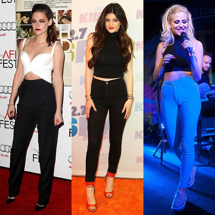 crop tops with high-waist pants