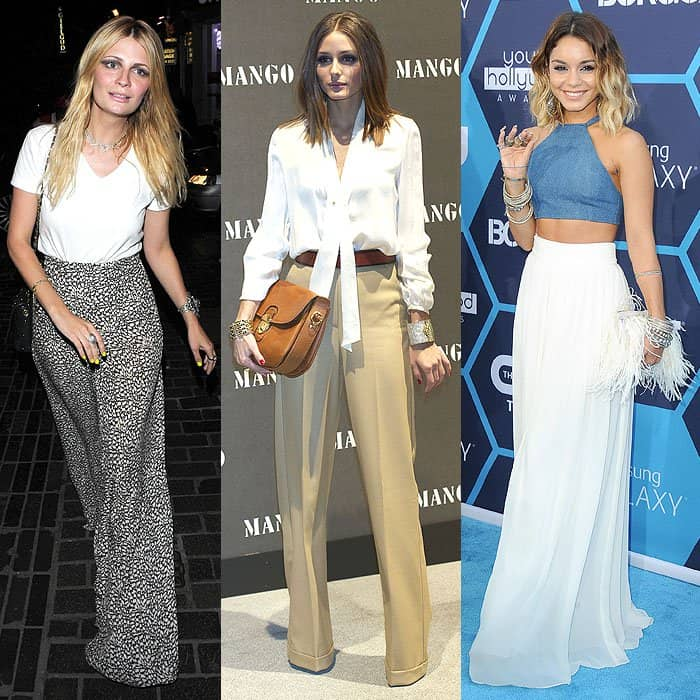 High-waisted pants look absolutely amazing when worn a little loose and flowy