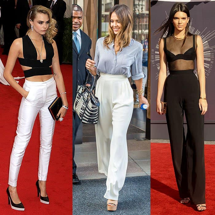 natural waist high-waist pants