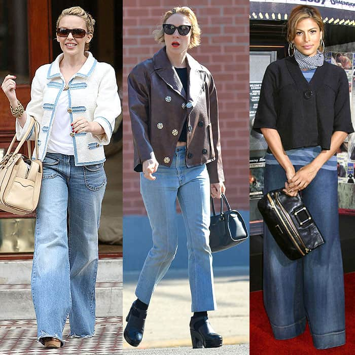 unflattering jackets with high-waist jeans