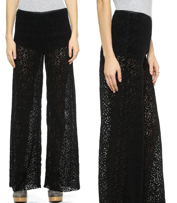 Free People Wide Leg Lace Pants