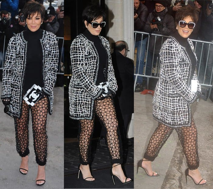Kris Jenner attends the Chanel show as part of Paris Fashion Week Haute Couture Spring/Summer 2015 on January 27, 2015 in Paris, France