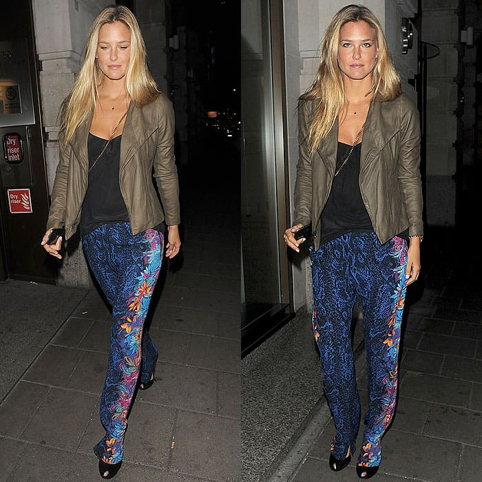 Bar Rafaeli arriving at Novikov restaurant in Mayfair, London, on August 2, 2012