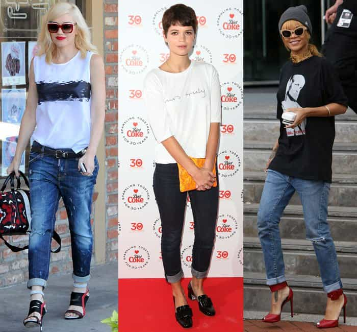 Wear cuffed jeans and pants with hot shoes