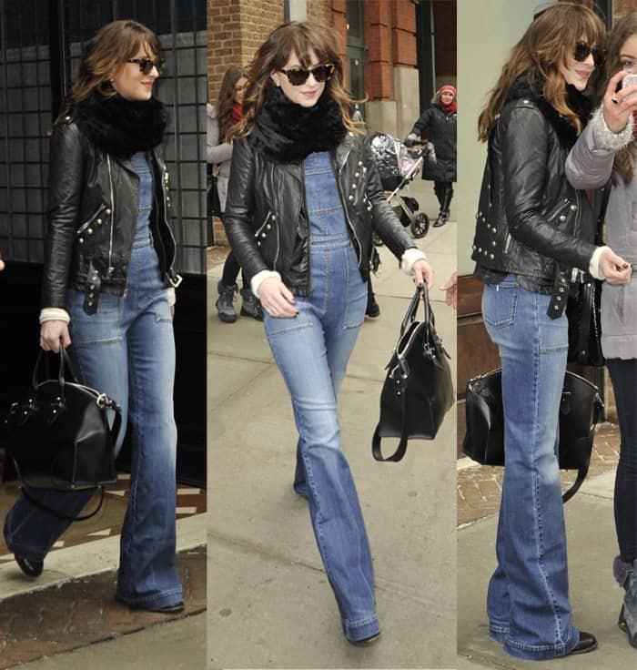 Dakota Johnson leaving her hotel in TriBeCa in New York on February 26, 2015