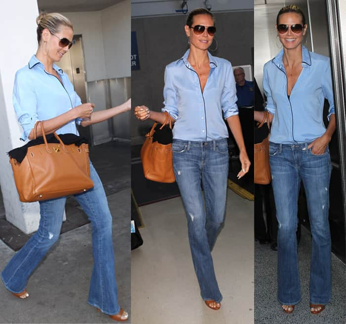 653bbfb5f6a Heidi Klum arrives at Los Angeles International (LAX) Airport in California  on August 15