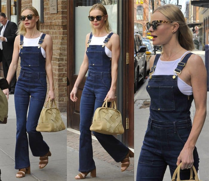 Kate Bosworth leaving her New York City hotel in Manhattan on April 16, 2015