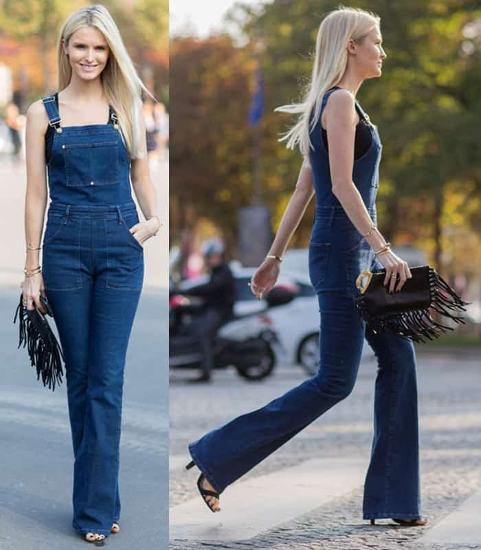 Celebrity Style 6 Chic Ways To Wear Denim Flare Overalls