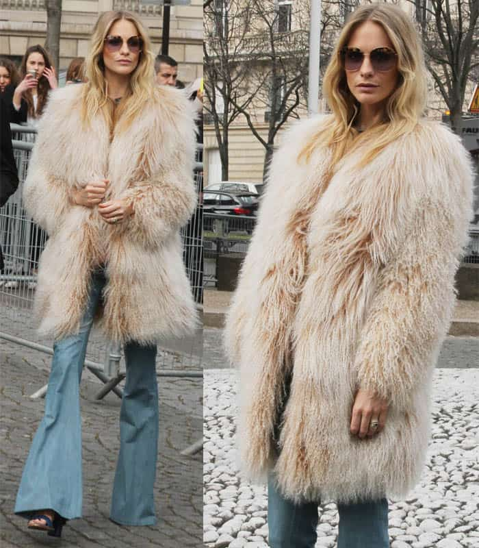 Poppy Delevingne attends the Miu Miu show as part of the Paris Fashion Week Womenswear Fall/Winter 2015/2016 on March 11, 2015, in Paris, France