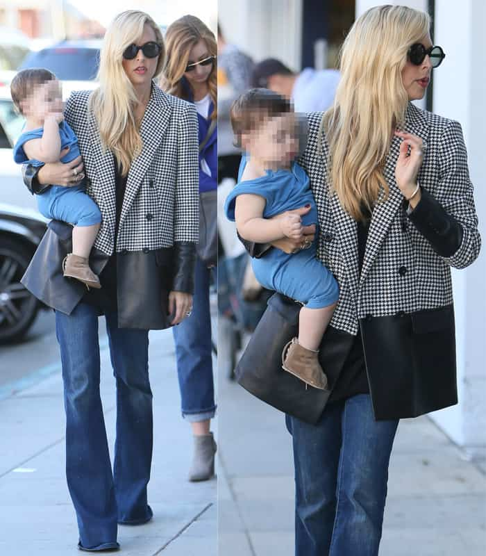Rachel Zoe taking her sons Skyler and Kaius out for frozen yogurt