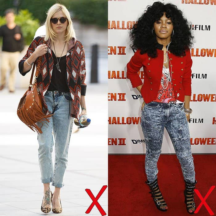 Fearne Cotton at BBC Radio 1 studios in London, England, on August 11, 2014; Teyana Taylor at the premiere of Halloween II held at the Grauman's Chinese Theatre in Hollywood, California, on August 24, 2009
