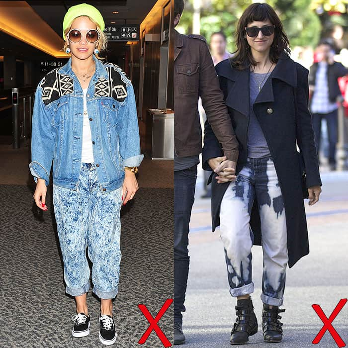Rita Ora catching a flight out of the Narita International Airport in Japan on September 30, 2012; Stephanie Jory shopping at The Grove in Los Angeles, California, on December 19, 2012
