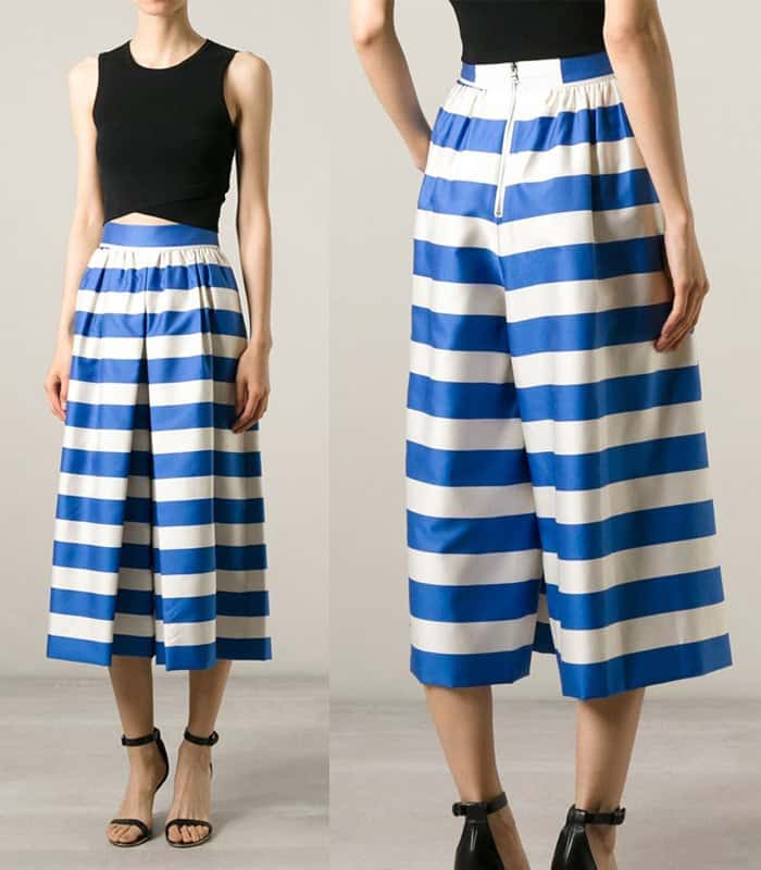 Alice + Olivia Striped Culottes