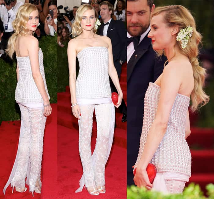 Diane Kruger at the MET Gala 2015 'China: Through The Looking Glass' Costume Institute Benefit Gala at the Metropolitan Museum of Art – Arrivals in New York on May 4, 2015
