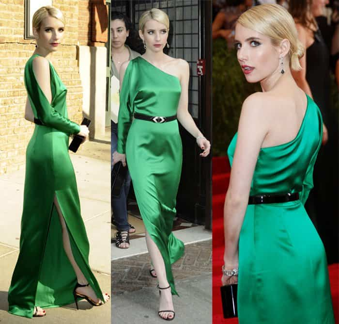 Emma Roberts leaves for 'China: Through The Looking Glass' Costume Institute Benefit Gala at the Metropolitan Museum of Art