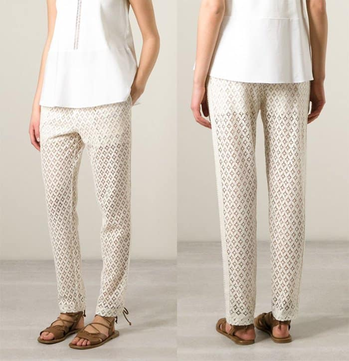 See by Chloe Macrame Lace Trousers