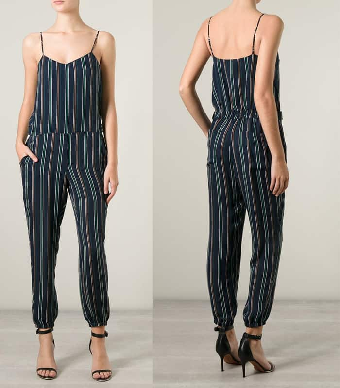 Theory Striped Jumpsuit