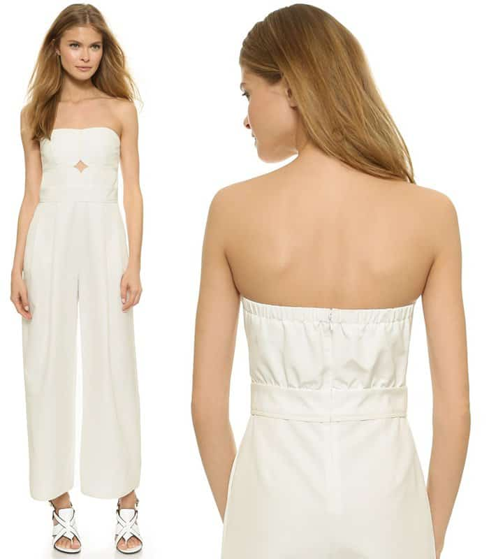 Yigal Azrouel Strapless Jumpsuit