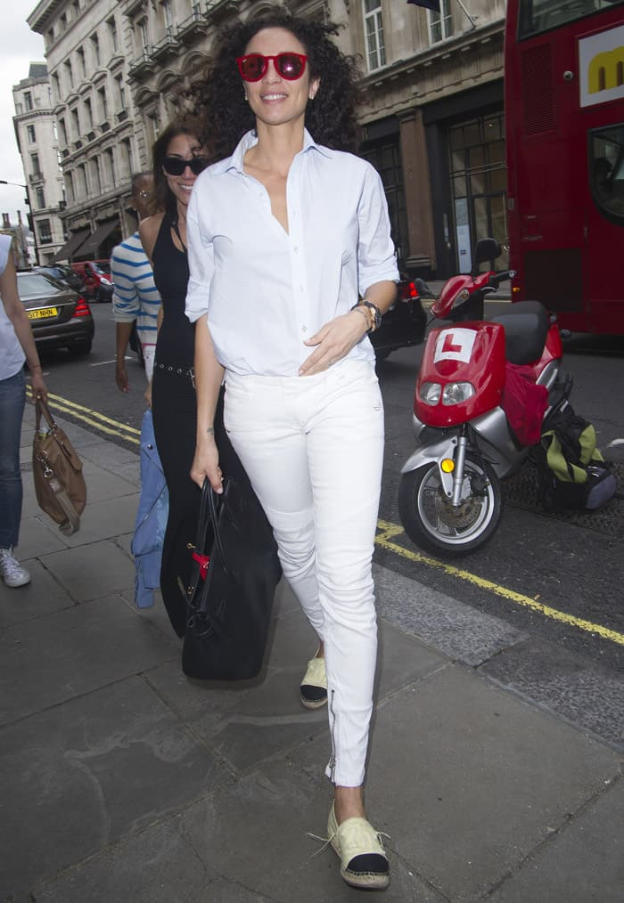 Lily Becker at the launch of natural health, beauty and wellbeing website Grace Guru, hosted by Anna Grace-Davidson with the support of Jo Wood Organics, at Sketch in London on June 17, 2015