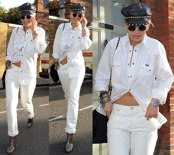 Rita Ora seen leaving a Studio in West London on May 28, 2015 width=