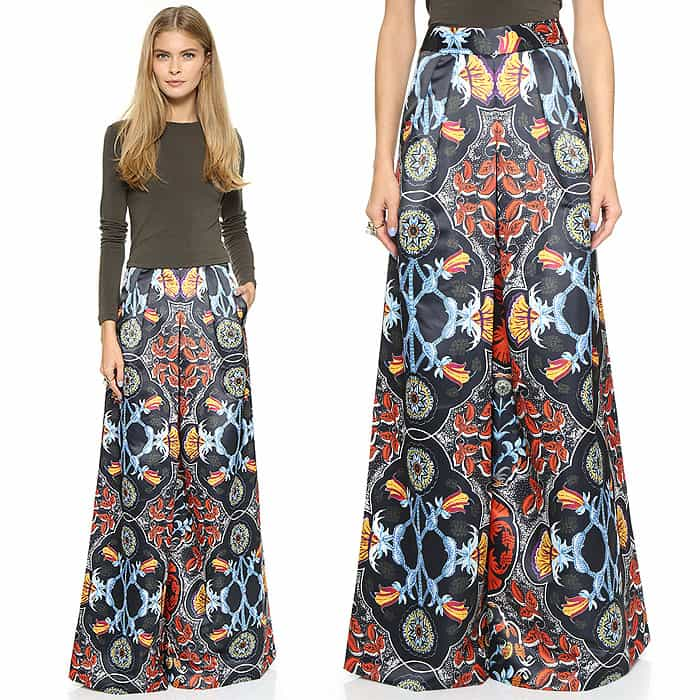 Alice + Olivia Deep Pleated Culotte Pants