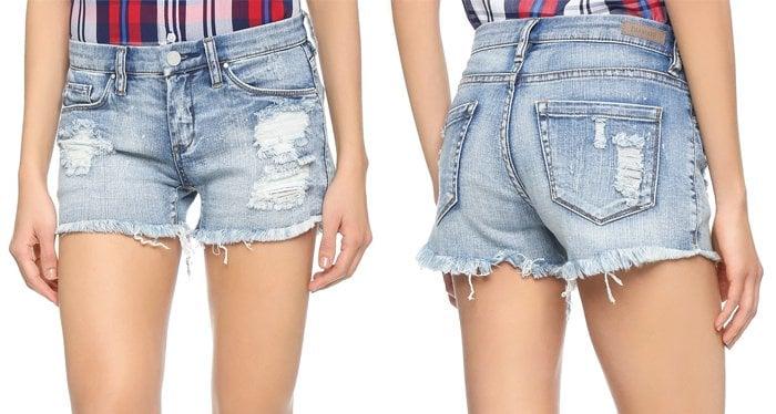 Blank Denim Distressed Cutoff Shorts