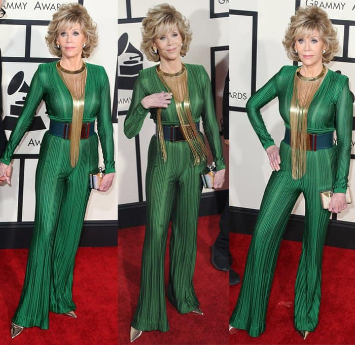 Jane Fonda at the 57th Annual GRAMMY Awards in Los Angeles on February 9, 2015