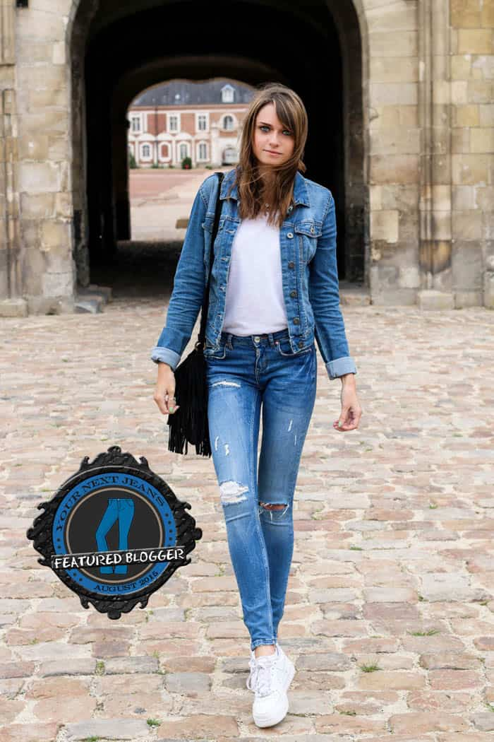 Audrey knows how to rock a denim jacket and matching jeans