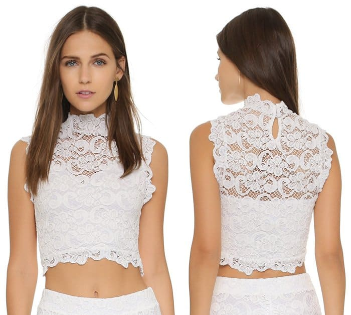 Nightcap Clothing Dixie Lace Crop Top
