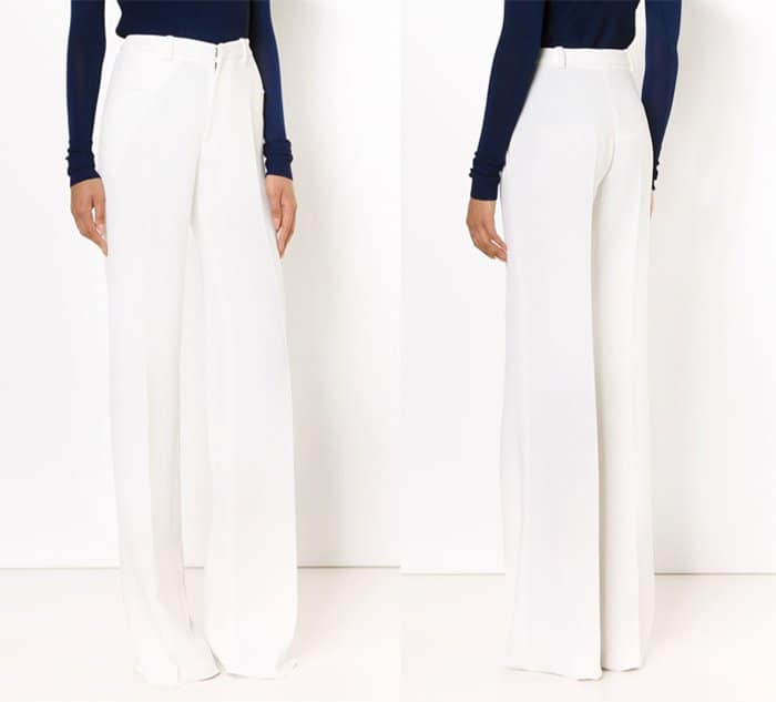 Roland Mouret High Waisted Wide Leg Trousers