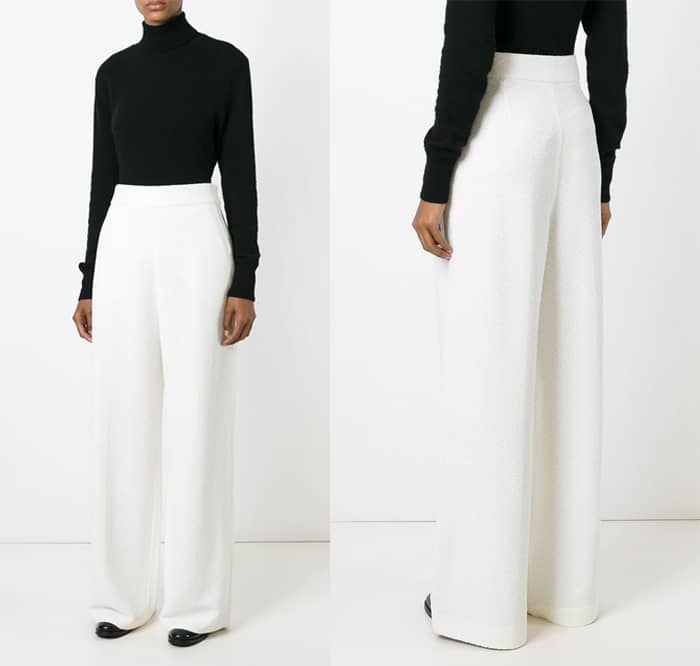 Rosetta Getty Textured Wide Leg Trousers