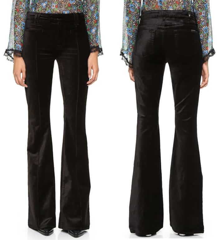7 For All Mankind Pintuck Trousers