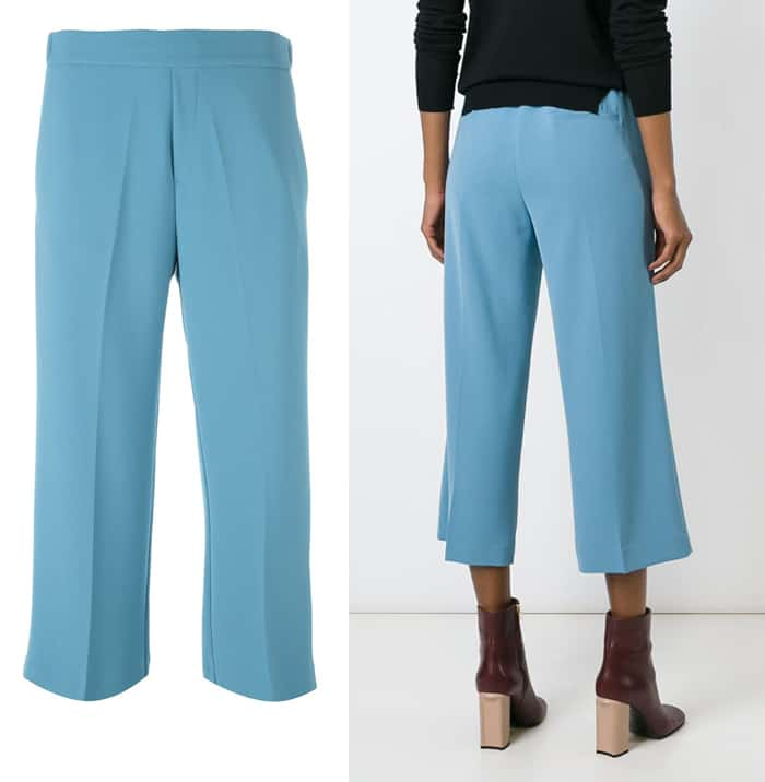 PAROSH Cropped Trousers