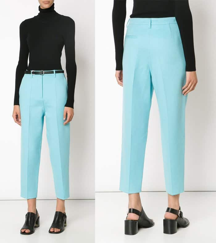 Rochas Slim Fit Cropped Trousers