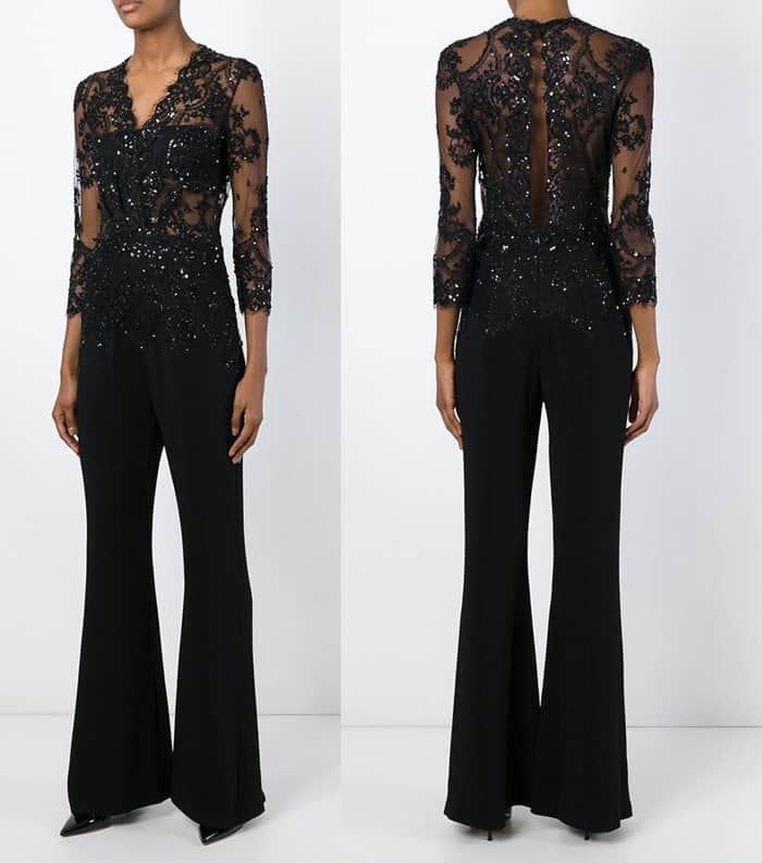 Zuhair Murad Sequinned Lace Jumpsuit