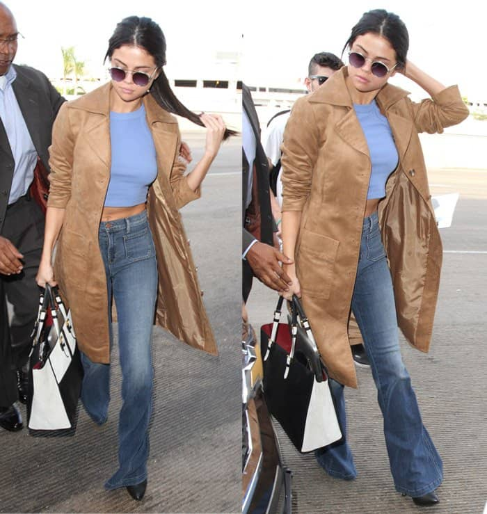 "Selena Gomez toting Louis Vuitton's ""City Steamer"" PM bag"