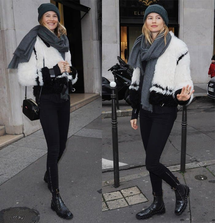 Behati Prinsloo is casually chic in Paris on January 23, 2016