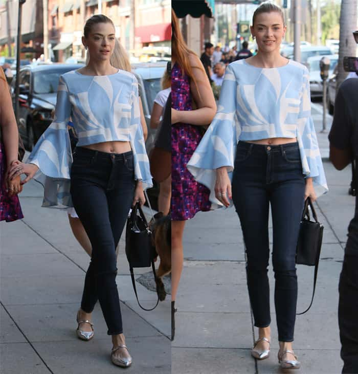 Jaime King shows off her belly button
