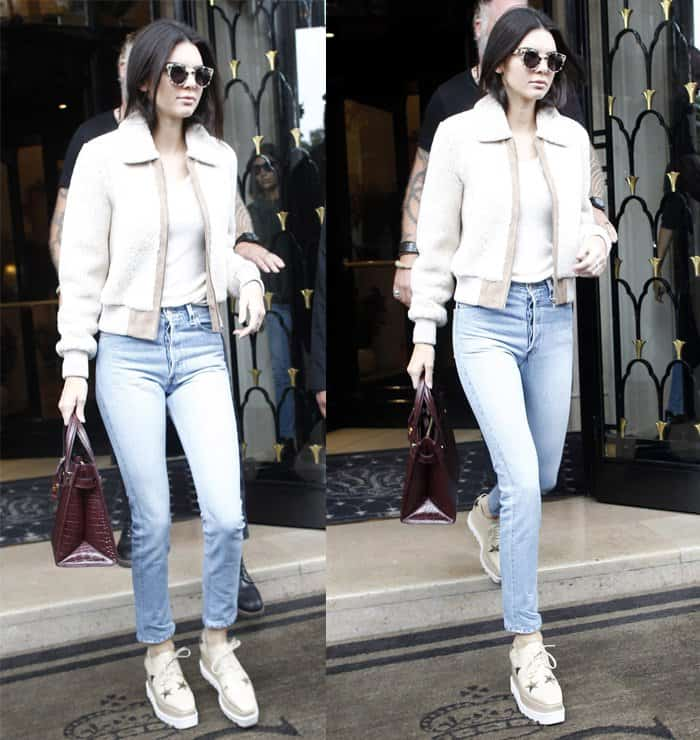 Kendall Jenner leaving Four Seasons Hotel George V during Paris Fashion Week in France on October 5, 2015